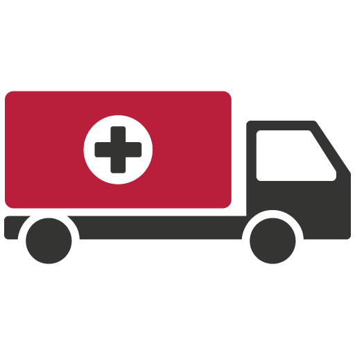 Medical truck icon